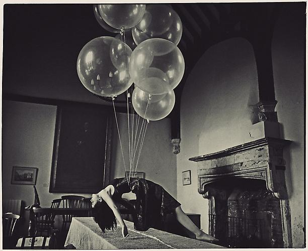 Ofelea and the Flying Balloons (2011)  -  Enquire  From the  Ofelea  Series Digital Print on Harman CrystalJet Gloss Paper with Satin Matte Laminate on Aluminium Available in 110 x 90 cm, 90 x 74 cm, & 60 x 50 cm (Editions of 8)