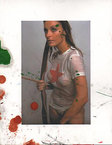 The Forbidden Zone Was Once a Paradise (Sharon Tate) 2013 Oil, acrylic, graphite, and inkjet on paper 11 x 8.5 inches