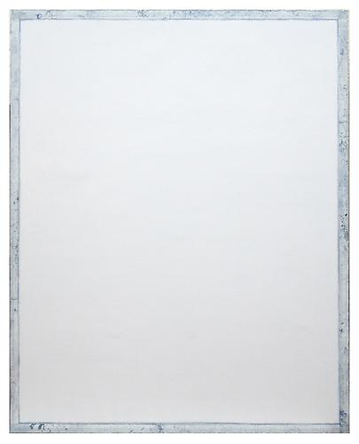 Tablet (White) (2012) Oil, enamel, acrylic, crystalina, Mylar on canvas 60h x 48w in (152.4h x 121.92w cm)