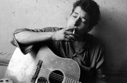 Bob Dylan, New York [smoking] 1962 gelatin silver print