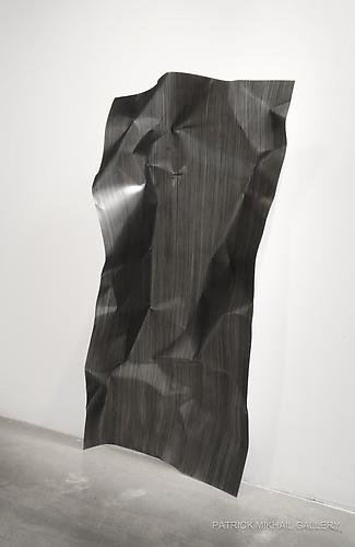 PRECARIOUS | OIL ON ALUMINUM | 48 X 24 INCHES | INSTALLATION VIEW | PATRICK MIKHAIL GALLERY | 2011