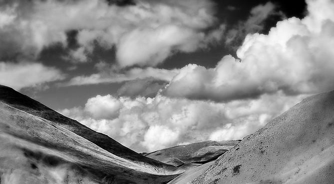 Hills and Gathering Clouds, NZ 2011 gelatin silver print