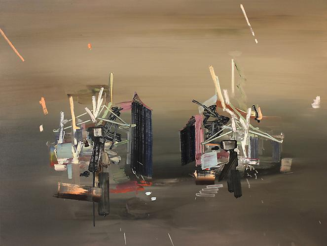 SCOTT EVERINGHAM | DELUXE VILLAS | OIL ON CANVAS | 36 X 48 INCHES | 2011