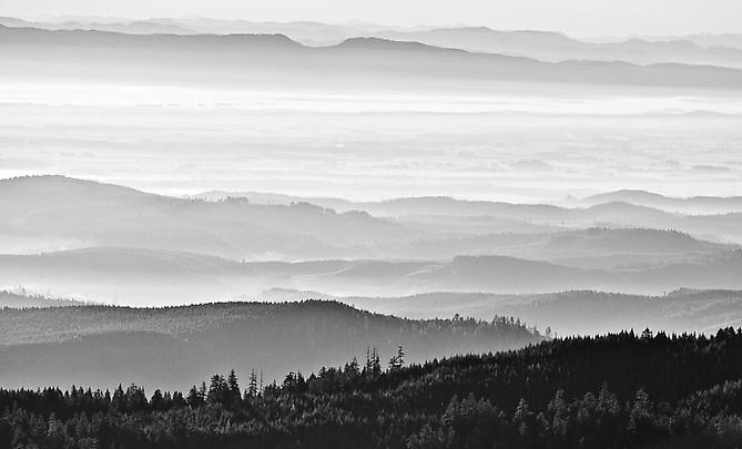 Willamette Valley from Coast Range gelatin silver print