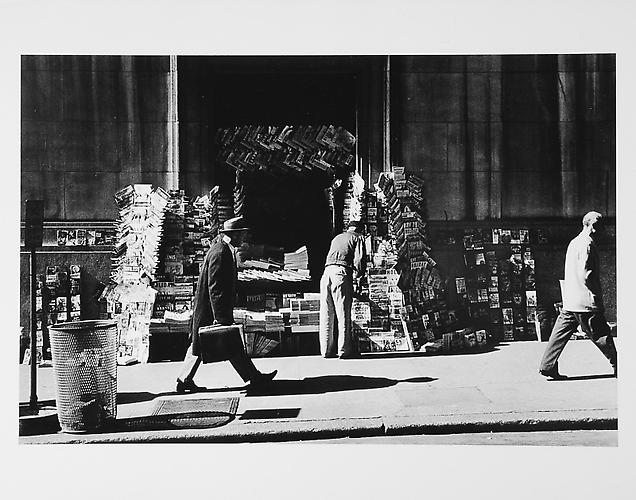 Newsstand, people  mid 1950s Gelatin Silver Print