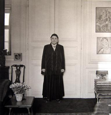 Gertrude Stein in her Paris Apartment 1946 platinum/palladium print