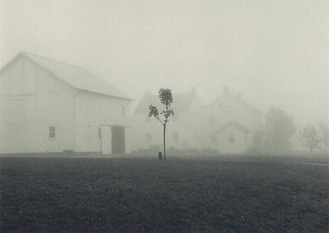 Farmhouse in Fog, Lancaster, Pennsylvania 1966 platinum/palladium print
