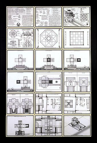 TESSERACT HOUSE, 1978  Ink and lettering on board, 51 x 33 in.  Price upon request