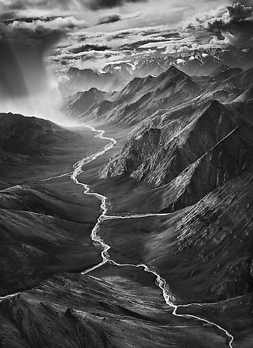 The Eastern Part of the Brooks Range, Arctic National Wildlife Refuge, Alaska, USA. 2009 gelatin silver print