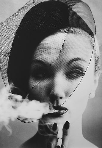 Smoke & Veil, Paris [VOGUE] 1958 Gelatin Silver Print