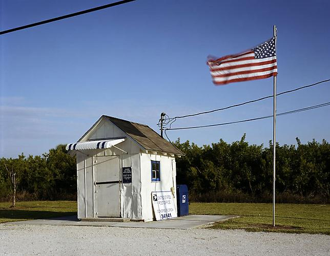 "Ochopee Post Office, from series ""Along the Dixie Highway,"" 2007 C-print 30 x 40 in."