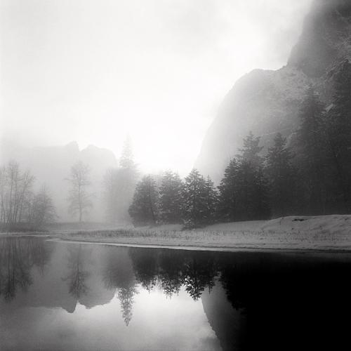 Merced River and Lower Brother 1992 gelatin silver print