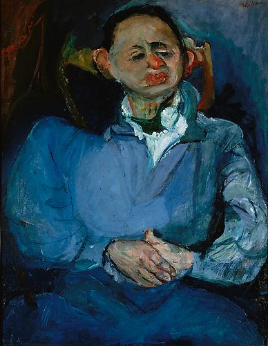 Chaim Soutine,  Portrait of the Sculptor, Oscar Miestchaninoff , c. 1923–24  Musée National d'Art Moderne, Centre Georges Pompidou, Paris,  bequeathed by Madame Béatrice Miestchaninoff in 1972