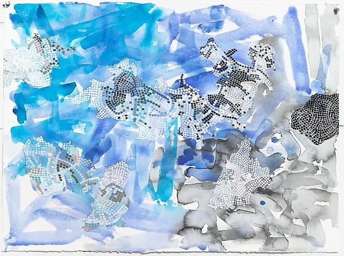 HERMINE FORD Untitled (326-13), 2013 Ink, watercolor, gouache, pencil and colored pencil on paper 22 x 30 in.