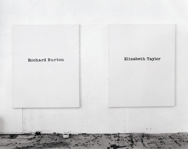 Richard Taylor / Elizabeth Burton, 1989. Silkscreen and gesso on canvas, 60 x 48 inches each.