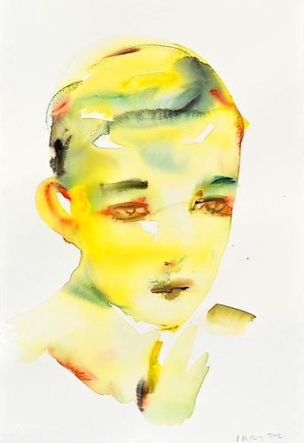 Untitled (Fabricated Yellow) (2012) Watercolor On Paper 22h x 15w in (55.88h x 38.1w cm)