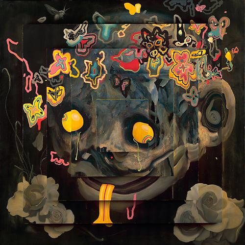 JAMES JEAN Akaname, 2011 Acrylic and oil on wood panel 60 x 60 x 15 inches