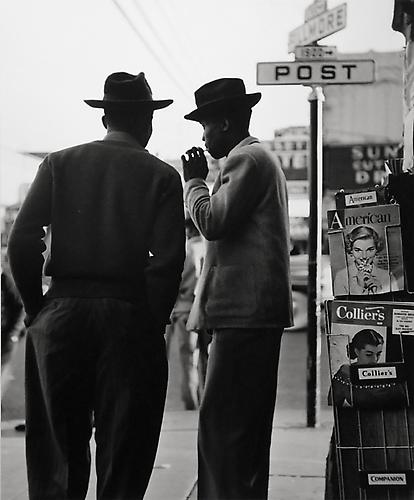 In the Filmore, San Francisco, California 1948 gelatin silver print