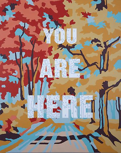 You Are Here, 2010. Archival pigment and acrylic on canvas, 60 x 48 inches.