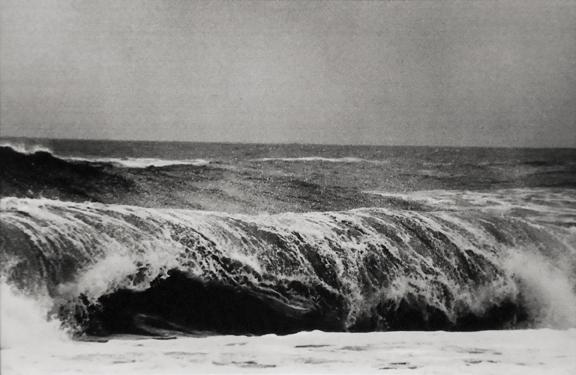 Untitled [wave], Long Island, New York circa 1975 gelatin silver print