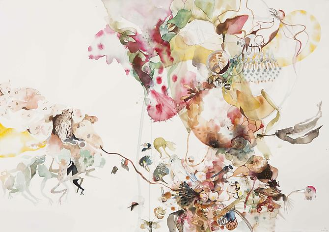 Untitled (EHR 46) from Sweet Corruptions (2012) Watercolor, graphite on paper 29h x 42w in (73.66h x 106.68w cm)