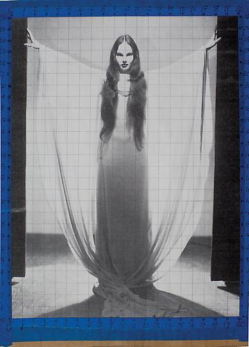 Carol Borland as Luna Mora in  Mark of the Vampire , 1935 Offset print and tape, 15 x 13 in.