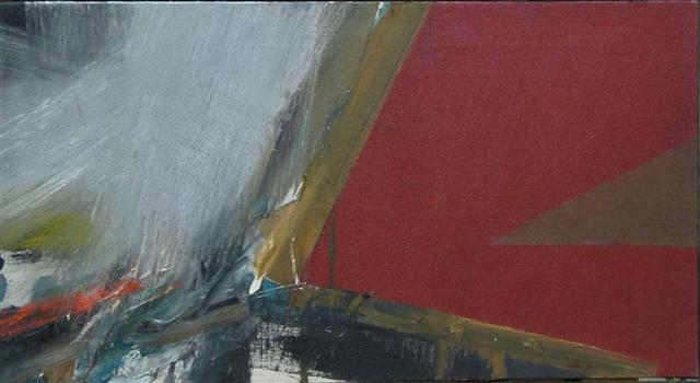 Budd Hopkins  Study for Marathon, 1964  Oil on canvas 13 x 25 1/2 inches HOPK_B_083