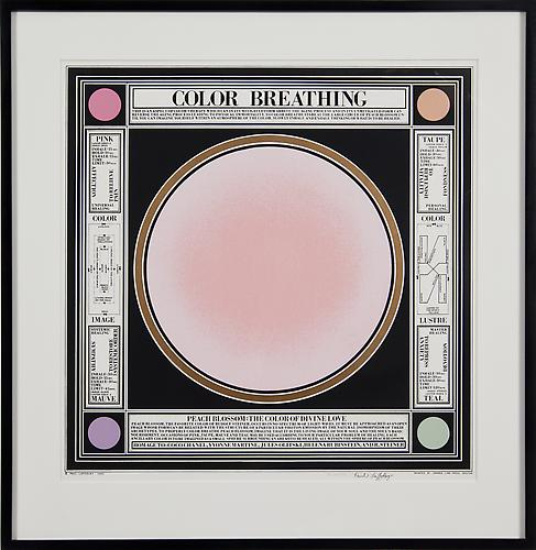 COLOR BREATHING, 1983 Silkscreen on rag paper, No. 44 from an edition of 100 Image size: 20 x 20 in. / Paper size: 23 x 23 in.  Sold out