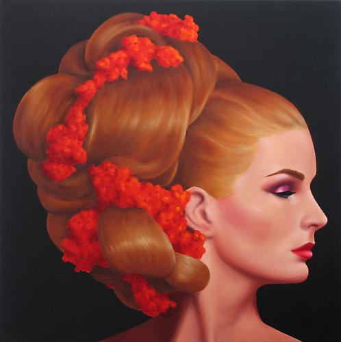 Miss Fabiola, 2009 Oil on canvas 24 x 24 inches