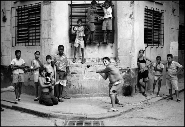Stickball, Havana, Cuba March 1999 Gelatin Silver Print