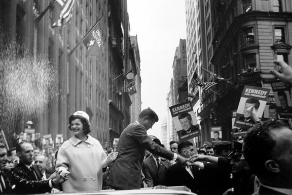 John F. Kennedy and his wife, Jackie, Campaigning in NYC 1960 gelatin silver print