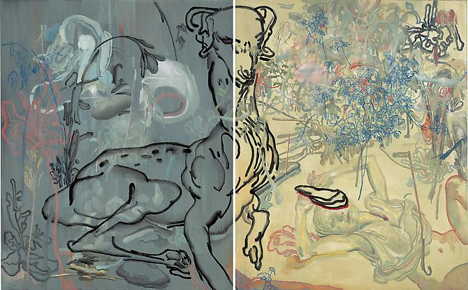 JAMES JEAN The Goat, 2010 Oil on canvas 60 x 96 inches
