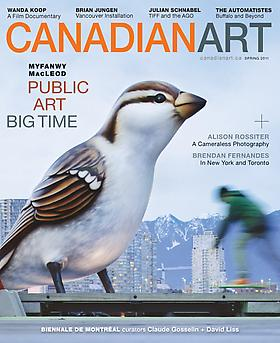 ADRIAN GÖLLNER FEATURED IN THE SPRING ISSUE OF CANADIAN ART MAGAZINE