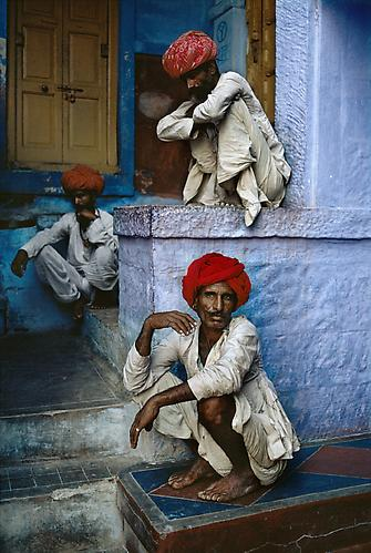 Men on Steps, Jodhpur, India 1996 C-type print on Fuji Crystal Archive paper