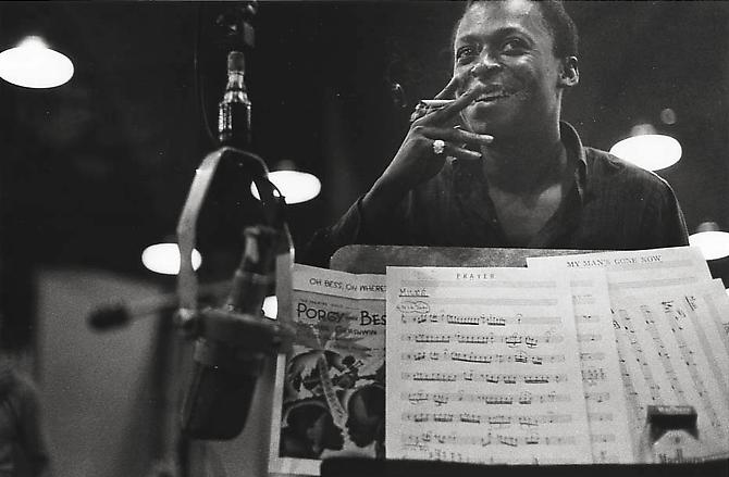 Miles Davis, New York City July 1958 gelatin silver print