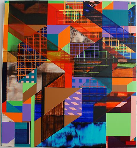 Changha Hwang Seventh Seven, 2009. Acrylic on cotton canvas, 42 x 38 inches.