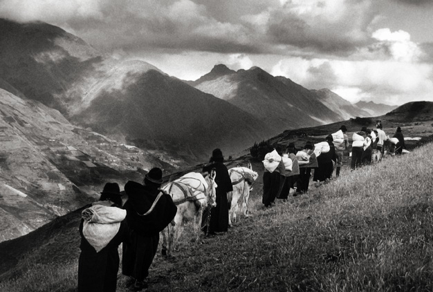 Women Carrying Goods to The Market of Chimbote, Ecuador 1998 Gelatin Silver Print