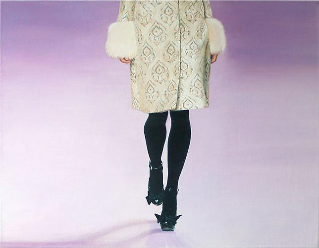 Black Shoes and Coat with Pattern, 2008 Oil on canvas 20.08 x 15.75 in