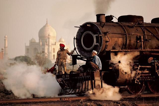 Steve McCurry Steam Train Uttar Pradesh, India 1983