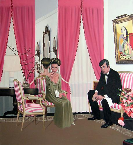 Mrs. Molly Parnis Livingston's Living Room, 2005 Oil on canvas 58 x 54 in.