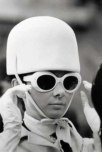 "Audrey Hepburn on the set of ""Two for the Road"" 1967 gelatin silver print"