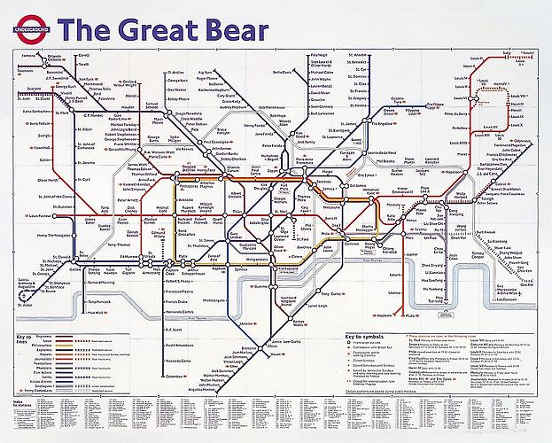The Great Bear, 1992. Color Lithograph, 40 1/2 x 50 2/5 inches.