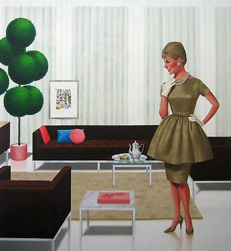 Betty of Arcadia, 2009 Oil on canvas 66 x 60 inches