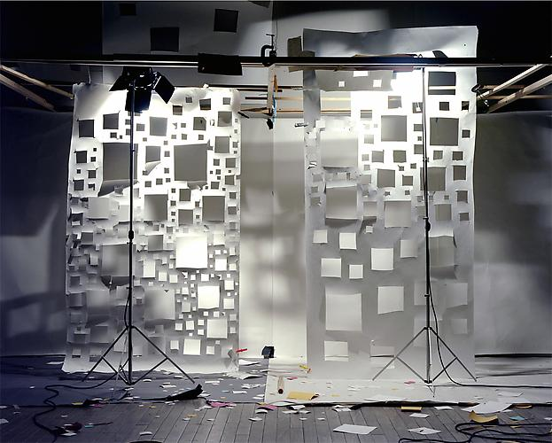 "No. 597, 2005 ""Square Holes in White Right and Left"". Edition of 3, 72 x 88 in. (182 x 223 cm.) 2 AP, 40 x 50 in. (101 x 127 cm.) Color Photograph"