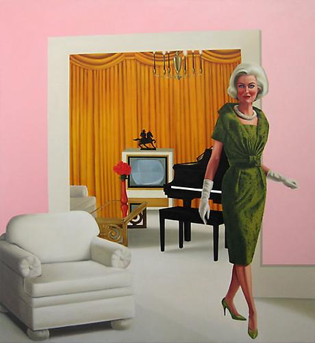 Pink Parlor Betty, 2009 Oil on canvas 66 x 60 inches