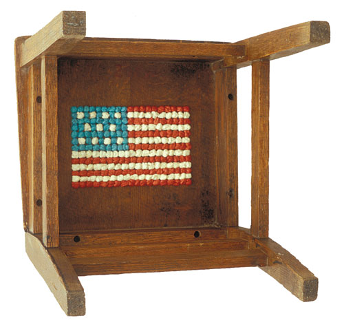 John Salvest, Chair With Flag