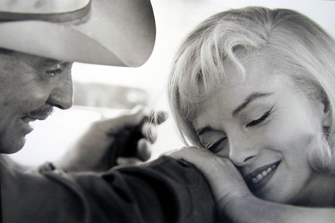On the Set of the Misfits: Marilyn Monroe and Clark Gable 1960 gelatin silver print