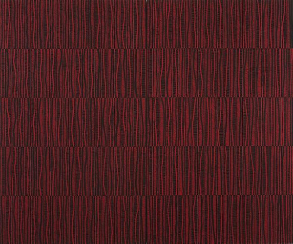 Katia Santibañez, The Red Path (2011) Flashe On Panel  60h x 72w in (152.4h x 182.88w cm)