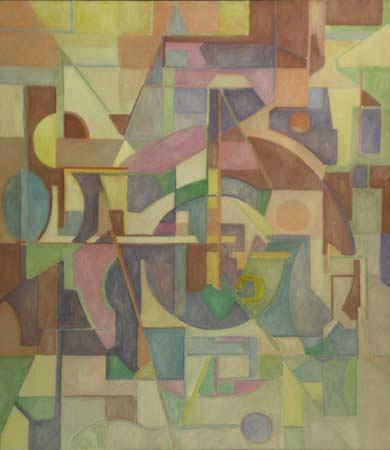 Untitled,1972 Oil on canvas	 47 1/2  x 39 3/4  inches (120.7 x 101 cm)		 Signed and dated lower right	 GOLU_M_011