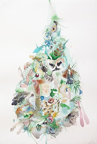 Emilie Clark, Untitled (EHR-60), from Sweet Corruptions (2013) Watercolor And Graphite  On Paper 22h x 15w in (55.9h x 38.1w cm)